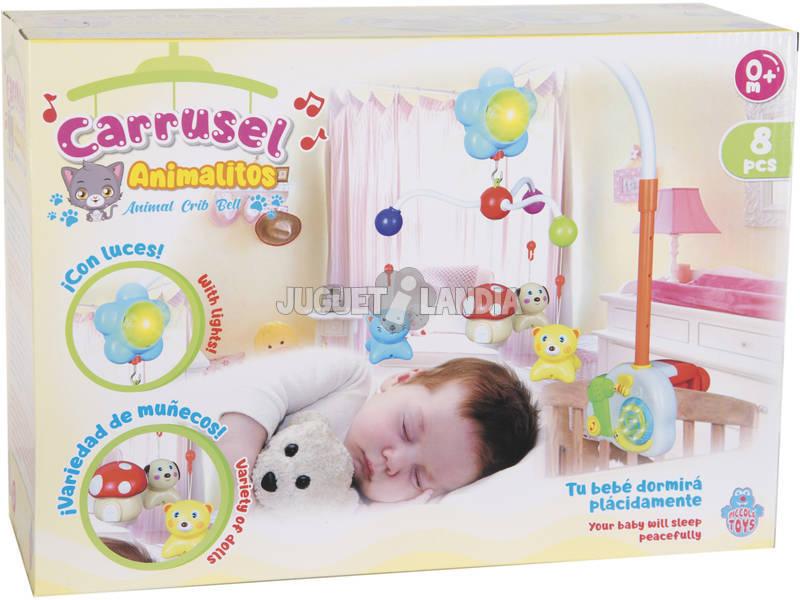 Carrusel Infantil Animalitos con Luces y Sonidos