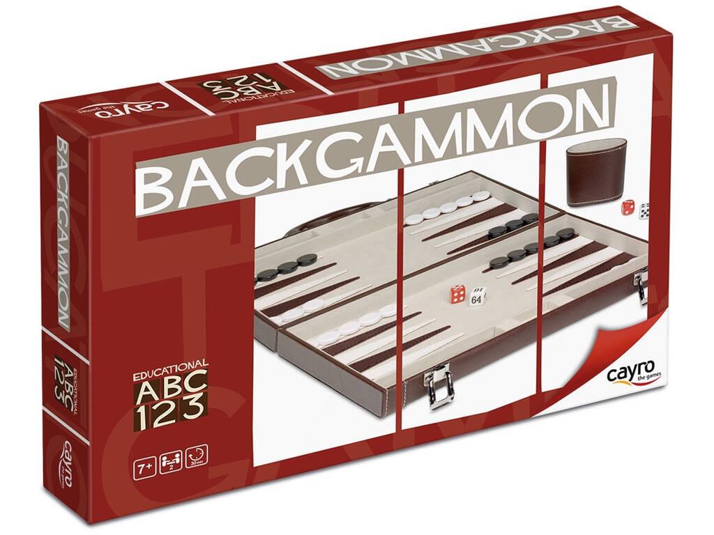 Jogo Backgammon Couro Cayro 709