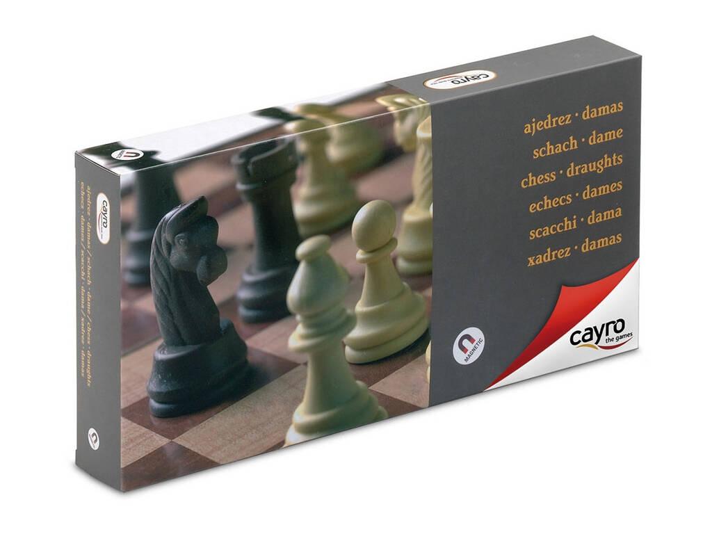 Jogo de Tabuleiro Xadrez-Damas Magnético Grande Cayro 455