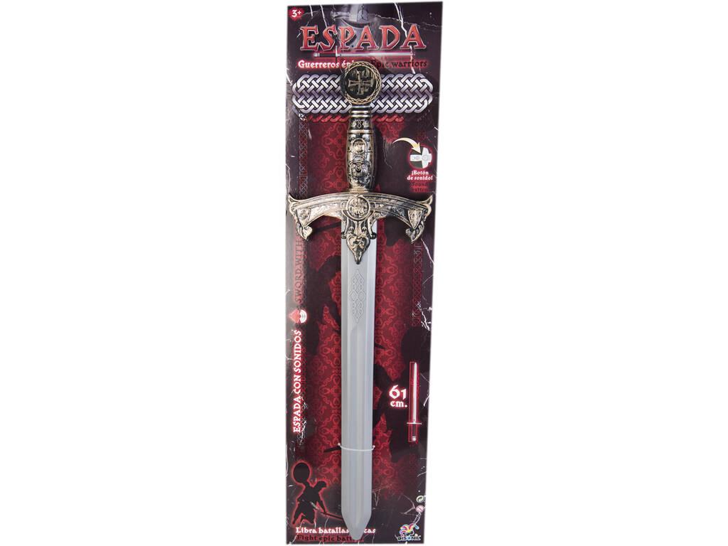 Espada Dourada Guerreiros Épicos 61 cm. Com Sons