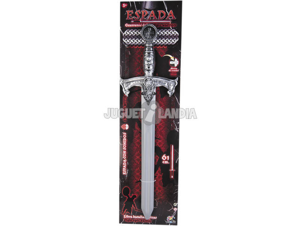 Espada Gris Guerreros Épicos 61 cm. con Sonidos