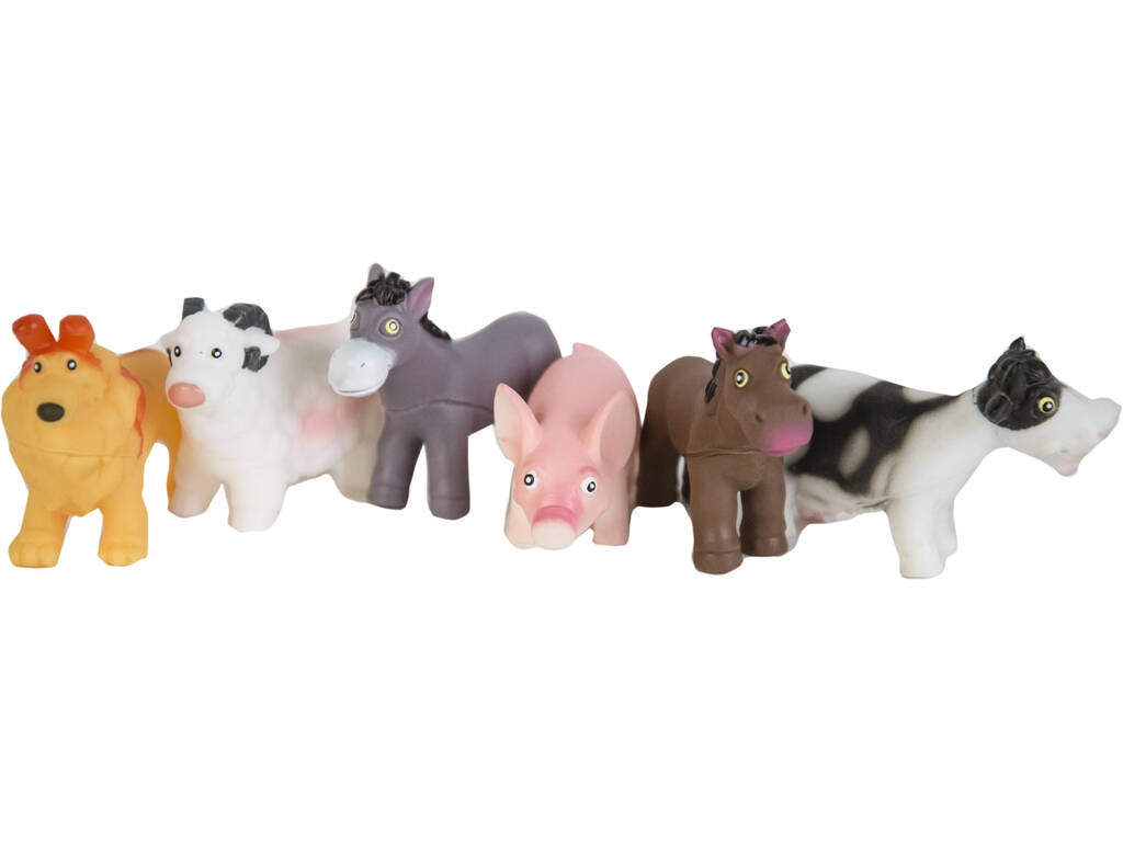 Set 6 Animales Granja 10 cm.