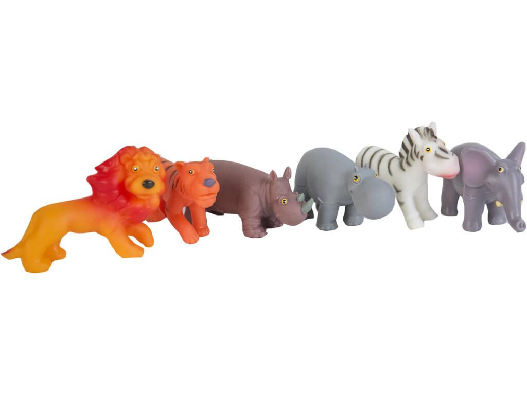 Set 6 Animales Selva 10 cm.