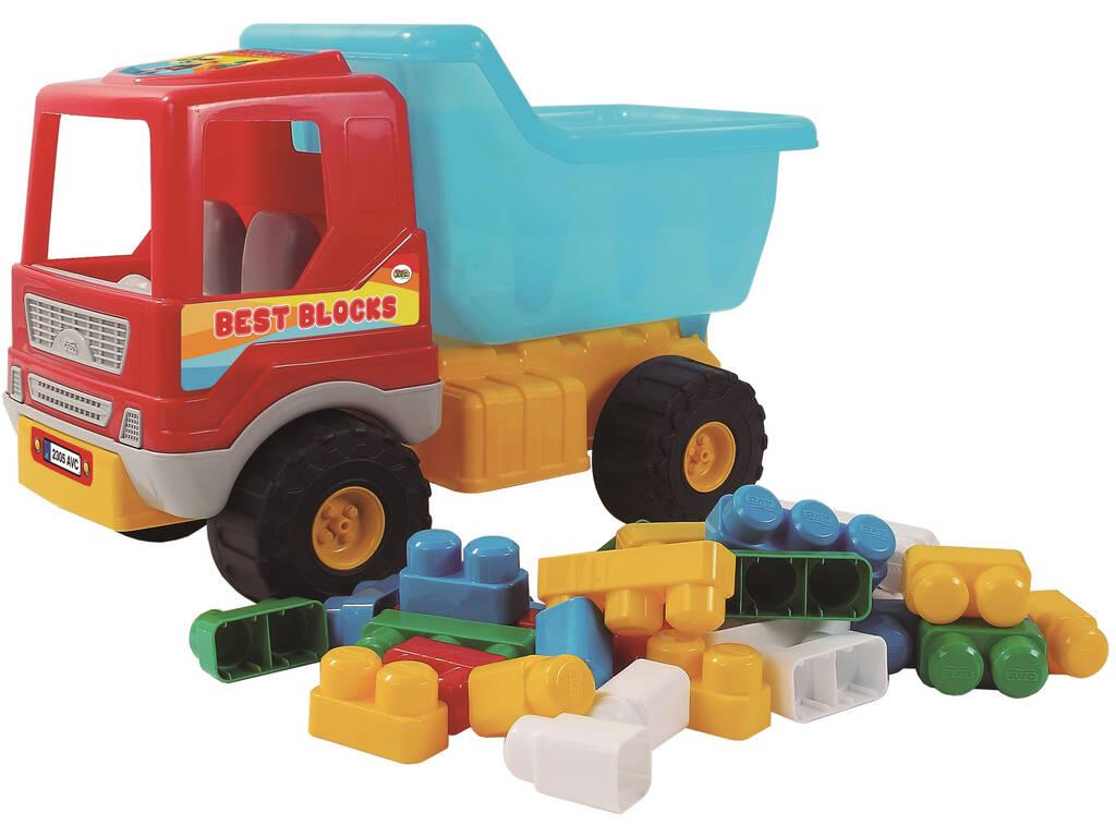 Camión Volquete Con 36 Bloques Construcción AVC 950