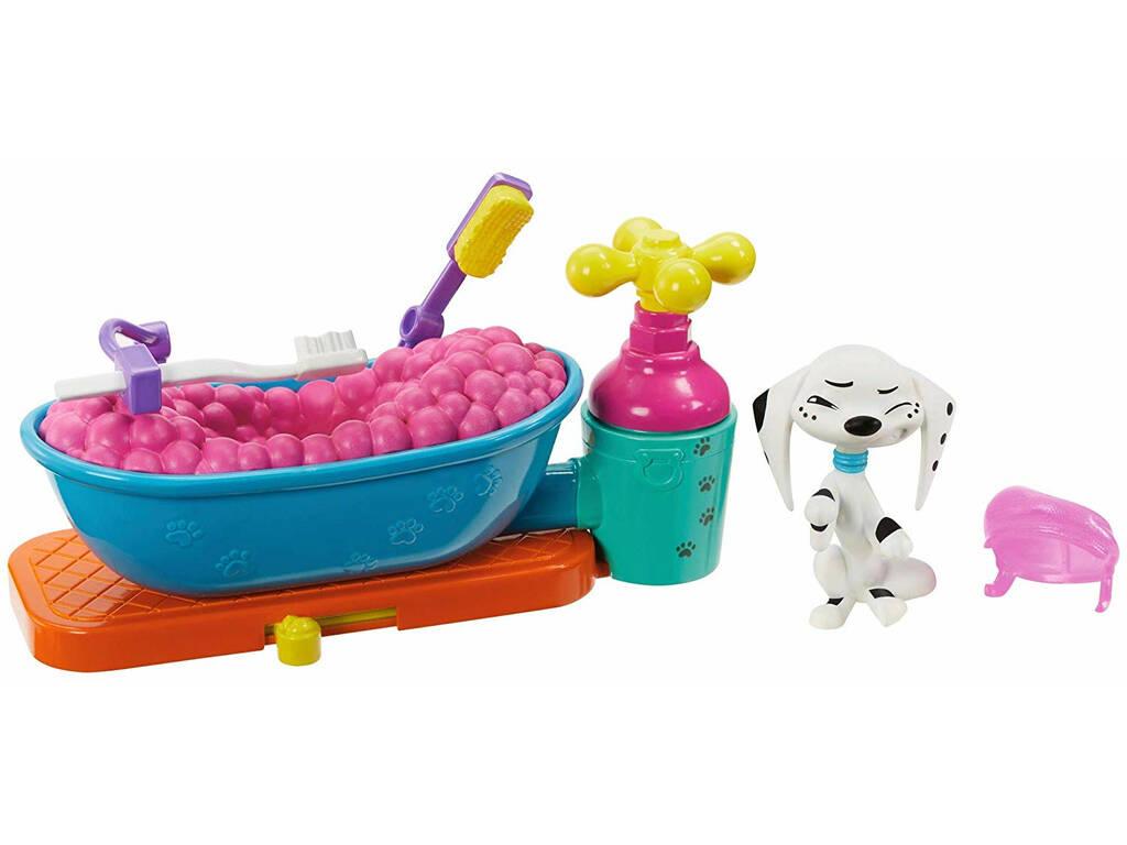 101 Dálmatas Figura Dolly Com Banheira Mattel GBM47