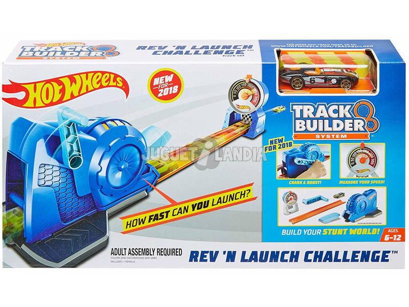 Hot Wheels Trackbuilder Lançador Velocímetro Mattel FLL02