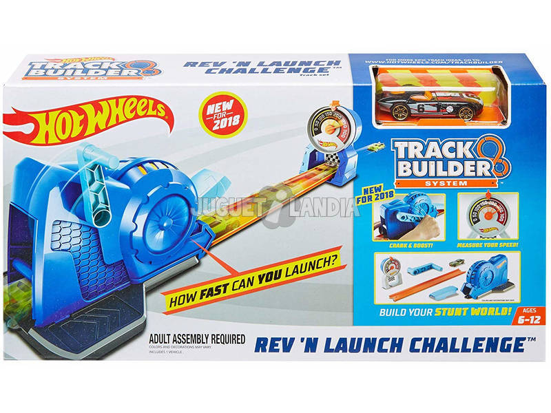 Hot Wheels Trackbuilder Lanceur Compteur de Vitesse Mattel FLL02