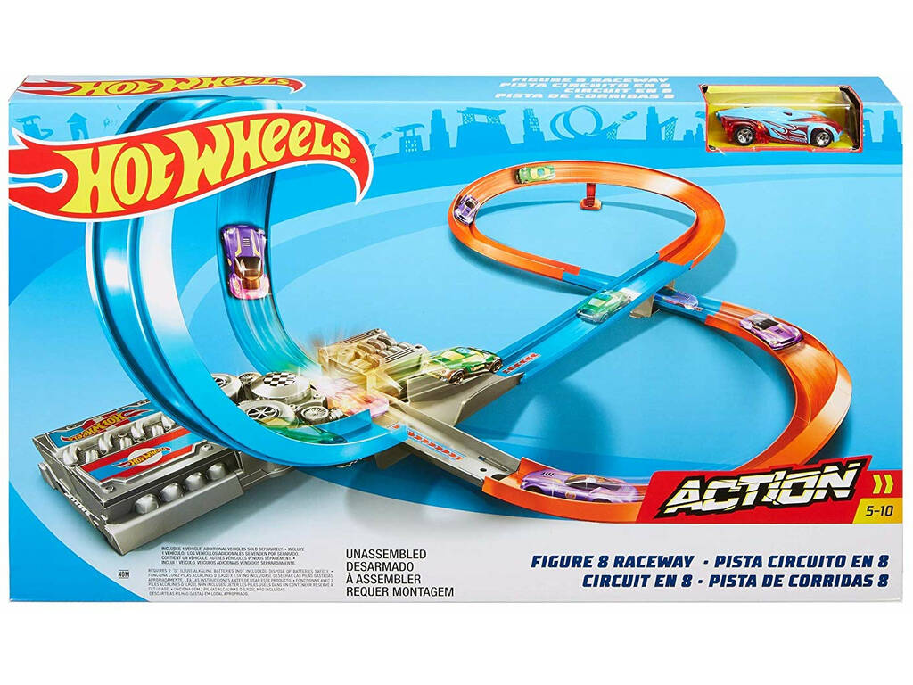 Hot Wheels Track Builder Pista Em Forma De 8 Mattel GGF92
