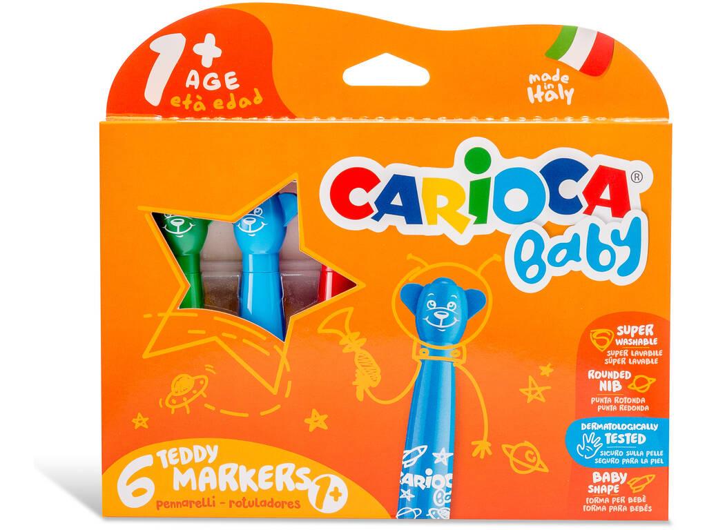 Caixa 6 Marcadores Teddy Markers Carioca Baby 42815