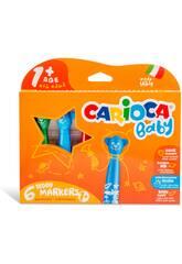 Boîte 6 Marqueurs Teddy Markers Carioca 42815