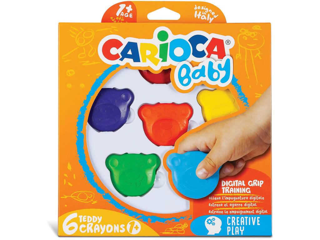Crayons / Ceras Teddy 6 Cores Carioca 42956