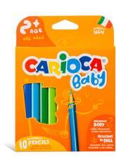 imagen Baby Lápiz 10 Colores Carioca 42819