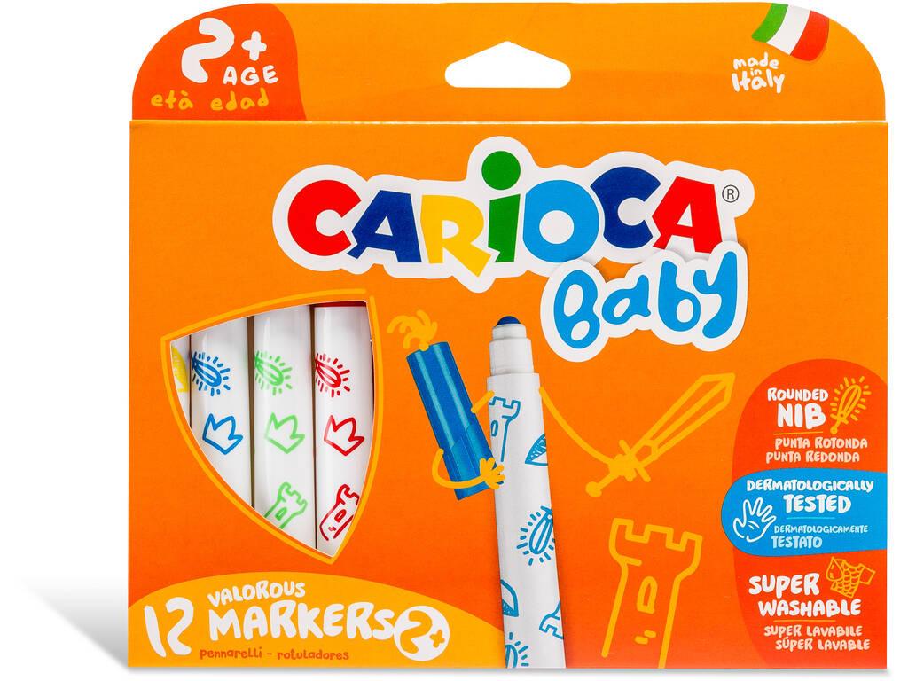 Marcadores Baby Markers 12 Cores Carioca 42814