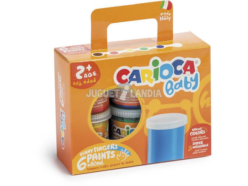 Temperas 100 gr. Pintura a Dedos 6 Colores Carioca K0032