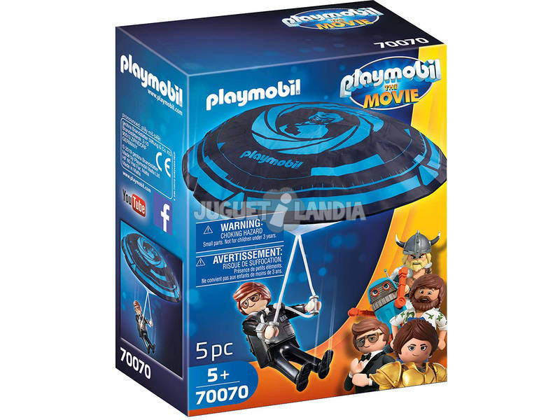Playmobil The Movie Rex Dasher com Paraquedas 70070
