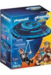 imagen Playmobil The Movie Rex Dasher con Paracaidas 70070