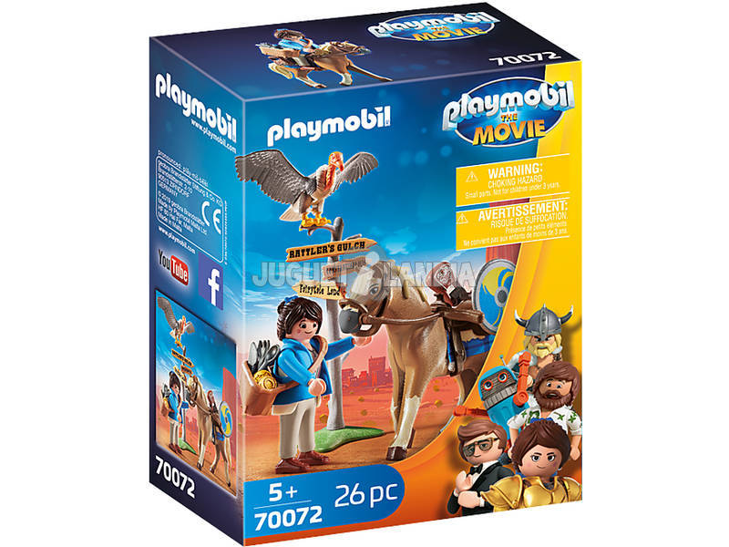 Playmobil The Movie Marla con Caballo 70072