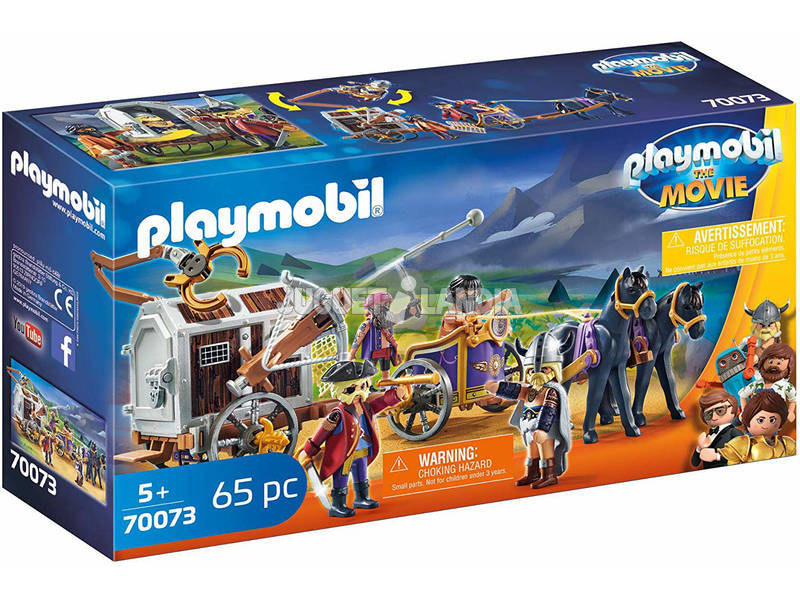Playmobil The Movie Charle con Carro Prisión 70073