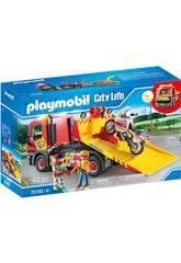Playmobil Vehículos Ciudad Grúa Remolque 70199
