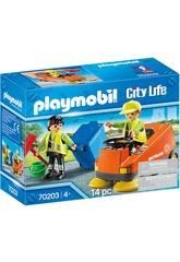 imagen Playmobil Vehiculos Ciudad Vehículo de Limpieza 70203