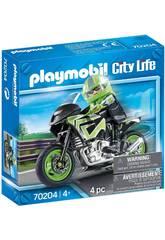 Playmobil Vehiculos Ciudad Moto 70204