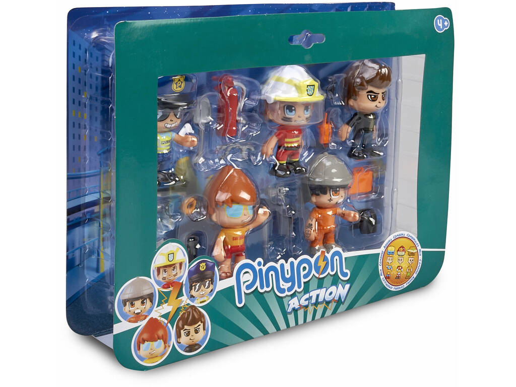 Pinypon Action Pack 5 Figuras Serie 2 Famosa 700015265