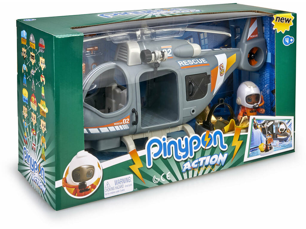 Pinypon Action Helicóptero Rescate Famosa 700015350