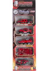 Die Cast Feuerwehrfahrzeugen 7.5 cm. Set 5 Piezas