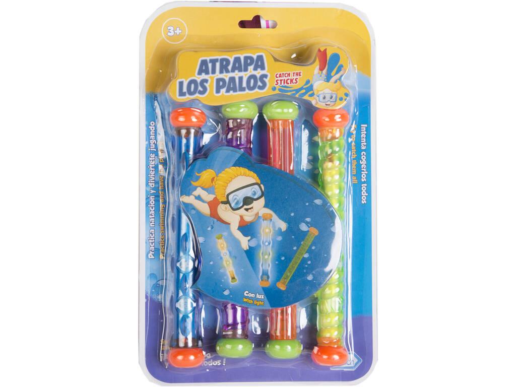 Set 4 Sticks Mergulhar com Luzes 19 cm.