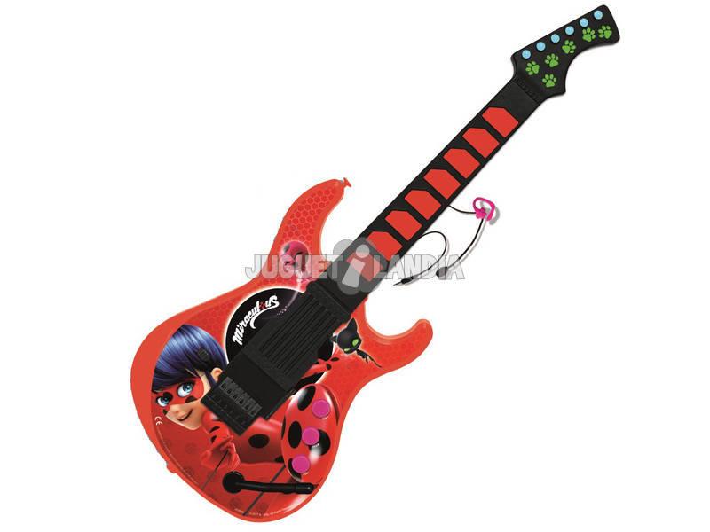 Miraculous Ladybug Guitarra Electrónica Con Micro Reig 2678