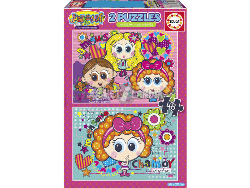 Puzzle 2x48 Distrolher Chamoy e Amiguis Educa 18319