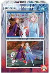 imagen Puzzle 2x48 Frozen 2 Educa 18110