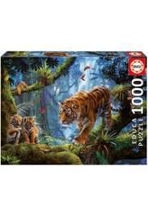 Puzzle von 1.000 Stücke Tiger auf dem Baum Educa 17662