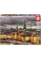 Puzzle 1000 Vista di Stockholm Educa 17664