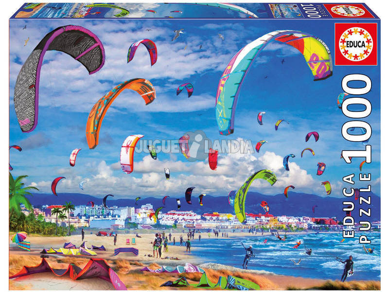 Puzzle 1000 Kitesurfing Educa 17693