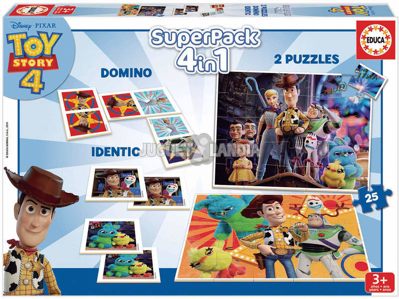 Superpack 4 in 1 Toy Story 4 Educa 18348