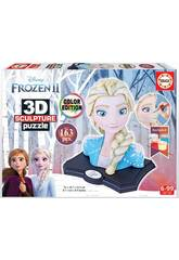 Puzzle Couleur 3D Sculpture Frozen 2 Elsa Educa 18374