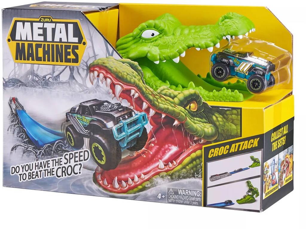 Metal Machines Croc Attack com Veículo de Metal Zuru 11008023