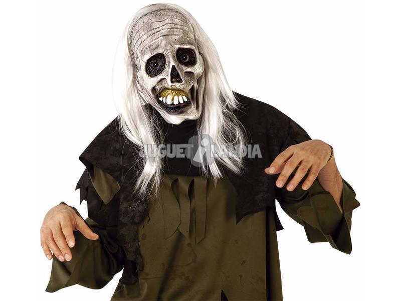 Máscara Zombie Esqueleto con Pelo Rubies S3216