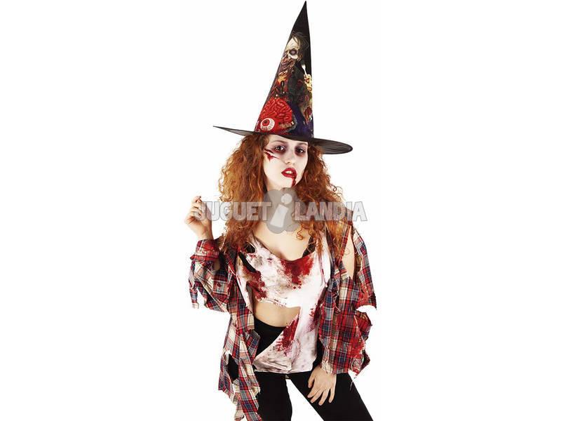 Sombrero Bruja Zombie Rubies S9017
