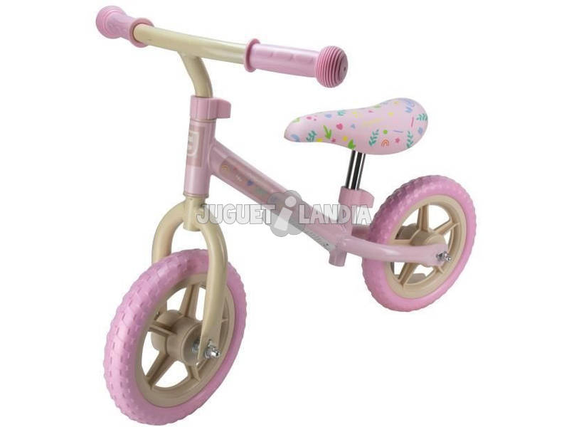Bicicleta Correpasillos Rosa 10 Rueda Eva