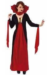 imagen Disfraz Mujer Vampiresa Gótica Roja Rubies S8365