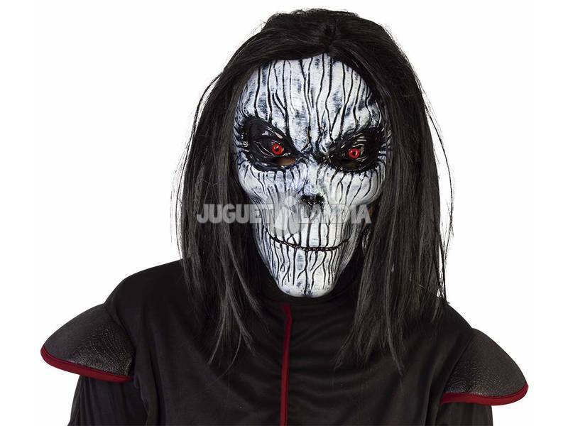 Maschera Scheletro Posseduto con Parrucca Rubies S5152
