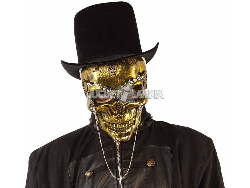 Maschera Steam Punk Skeleton Rubies S5155