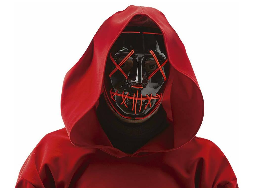 Maschera Maniaco con Luci Rubies S5157