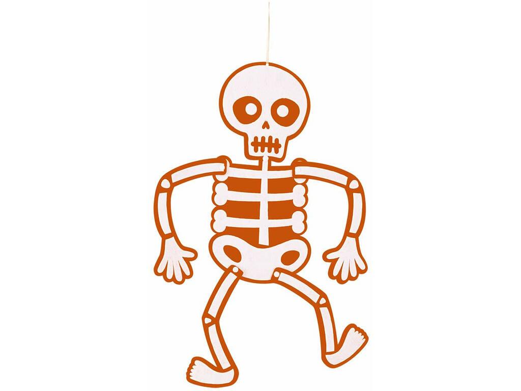 Squelette Suspendu Feutre Orange 51 cm Rubies S4401