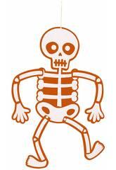 imagen Móvil Esqueleto Fieltro Naranja 51 cm. Rubies S4401
