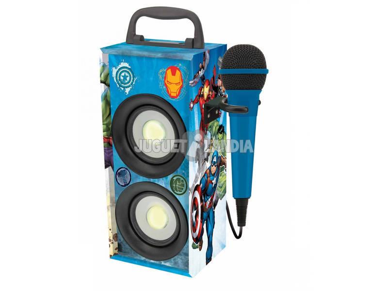 Vengeurs Mini Tour Sonore Bluetooth avec Microphone Lexibook BTP155AVZ