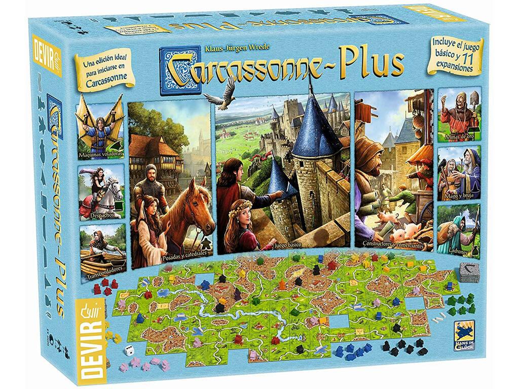 Jogo De Tabuleiro Carcassonne Plus Devir BGCARPLUS3