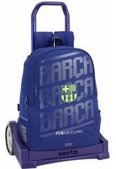 Zaino con Carrello Evolution F.C. Barcelona 2ª Kit Safta 611826860